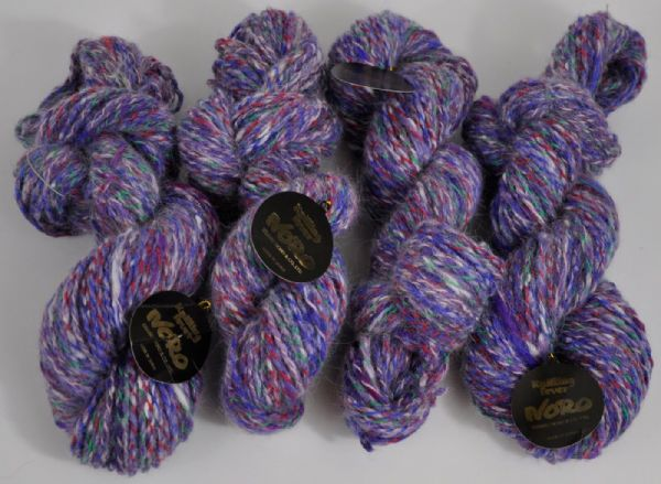 200g Noro Angora mix  double knit melange lilac blue and green 4x50g skeins